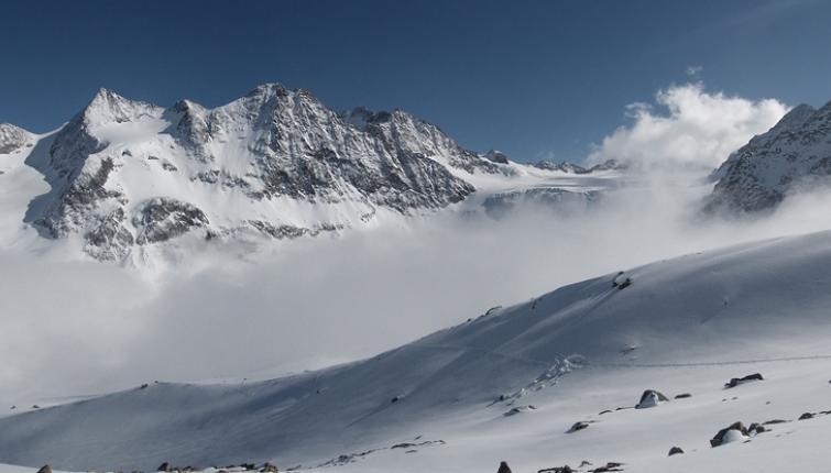 Tolle Stimmung! Nebel, Sonne und neu verschneite Berge!