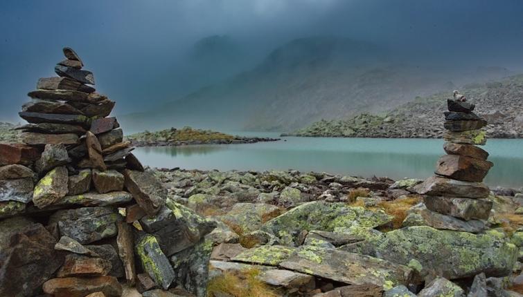 Am Rinnensee. Auch Regentage haben ihren Reiz-es gilt die richtige Einstellung dazu zu haben.