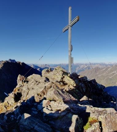 Panoram-Aussicht auf der Rinnenspitze