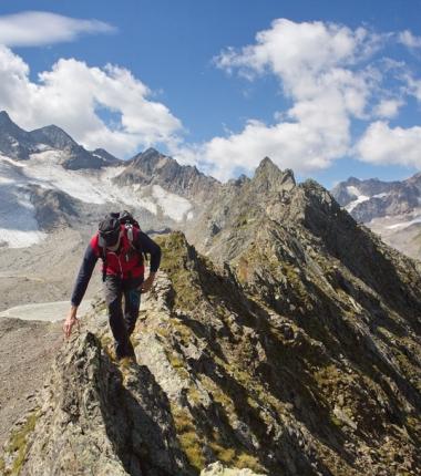 Am Grat zum Gipfel!