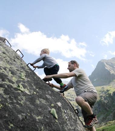 Am Kletterigel - mini-Klettersteig und Kletterrouten!