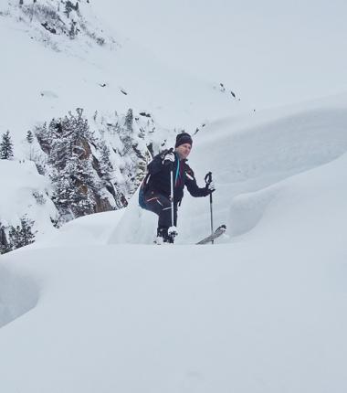 Der Schneezuwachs der vergangenen Schneefälle waren beträchtlich!