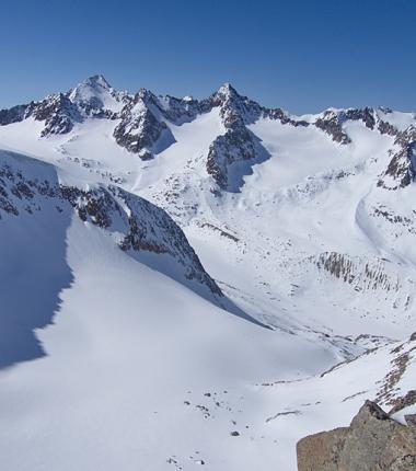 Schrankogel, Schrandele und Wildes Hinterbergl - die Bedingungen sind derzeit von der Hütte aufwärts gut!