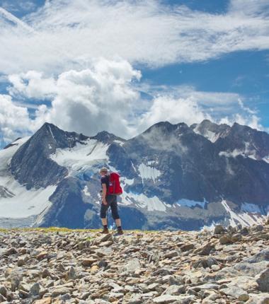 Kurz vor dem Gipfel des Aperen Turmes-eine grandiose Bergwelt eröffnet sich dem Bergwanderer!