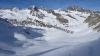 Im Anstieg zum Gschwezgrat an die 10cm kantiger Schnee auf  einer harten Schicht der Härte 4 darunter wieder kantige Kristalle!