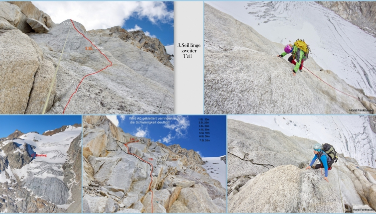 Eine kombinierte Eis/Felstour führt vom Berglasferner auf den Vorderen Wilden Turm.