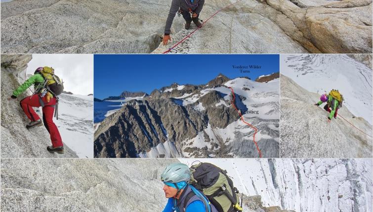 Gletscherzustieg- Eisausrüstung erforderlich!