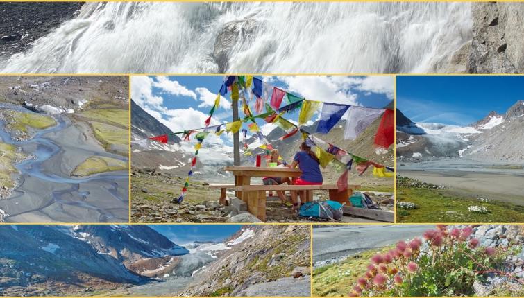 Eine ausgedehnte Wanderung (ca,2 Stunden ab der Hütte) zum Vorfeld des Alpeiner Ferner beinhaltet auch ein wenig Abenteuer!