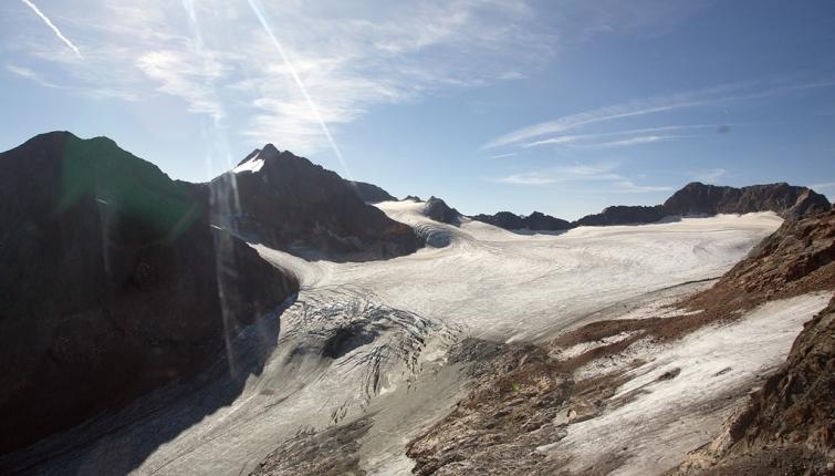 Die Ruderhofspitze mit dem Alpeiner Ferner