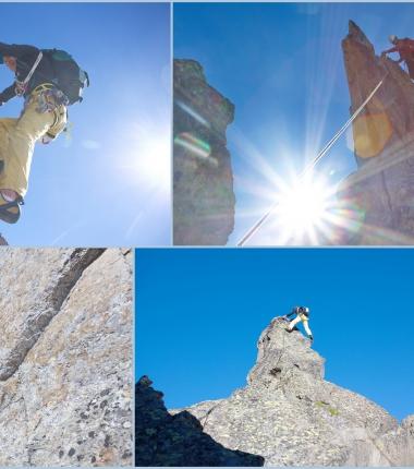 Anspruchsvolle Kletterei am Ostgrat der Berglasspitze