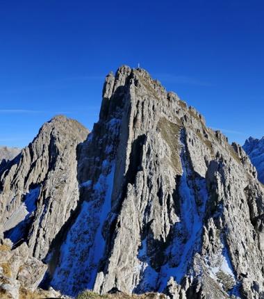 Erlspitze, Kuhljochspitze und Solstein im Karwendl
