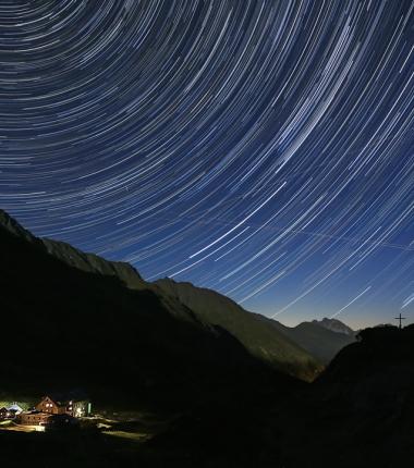 Der Sternenhimmel an die 5Stunden belichtet
