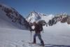 Im Aufstieg über den Alpeiner Ferner! Im Hintergrund der Schrankogel.