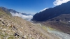 Blick von der Seitenmoräne auf das Delta welches die abgeschmolzenen Eismassen des Alpeiner Ferners hinterlassen haben!